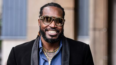 Chris Gayle arrives in court for 'indecent exposure' case