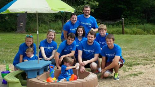 The charity also surprised the youngster with a new sandbox and toy set. (Kellan's Adventure/Facebook)