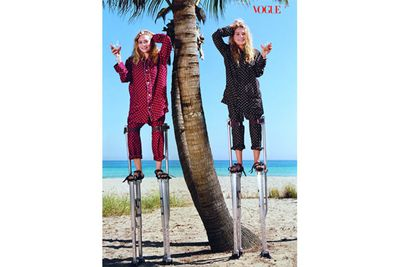Stilts, pyjamas and an Olsen-infested tropical island. What was <i>Vogue</i> thinking?