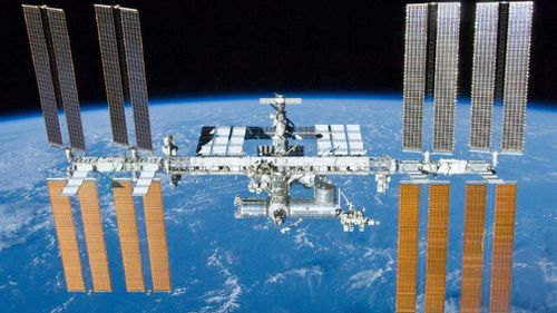 Astronauts have scrambled to patch a tiny hole that was allowing air to leak from the Russian side of the International Space Station.