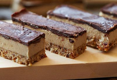 "Recipe:&nbsp;<a href=""http://kitchen.nine.com.au/2016/05/05/11/23/brooke-merediths-raw-vegan-caramel-slice"" target=""_top"" draggable=""false"">Brooke Meredith's raw vegan caramel slice</a>"