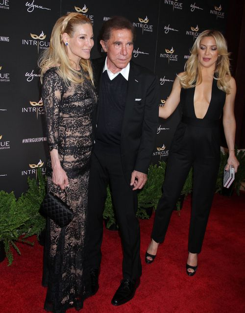 Wynn with wife Andrea and actress Kate Hudson in 2016. Picture: AAP