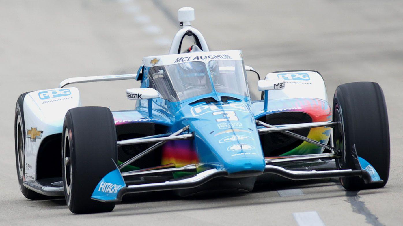 Scott McLaughlin second in debut oval race in IndyCar, behind winner Scott Dixon