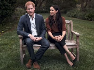 Prince Harry and Meghan Markle during TIME100 TV appearance