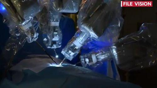 Breakthrough robotic surgery was used to remove Freyja's tumour. (9NEWS)