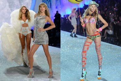 "Get excited, Swifties! Taylor Swift will return to the Victoria's Secret Fashion Show for the second year in a row, shaking it off once again among the world's hottest supermodels… and Aussie beauty Jessica Hart won't be one of them.<br/><br/>Jess copped flak for saying TayTay ""didn't fit"" last year's show, sparking rumours she'd been dumped by VS over the remarks. She later told <i>Vogue </i> ""it was taken out of context, but I have certainly learnt my lesson.""<br/><br/>Jess was mysteriously absent from the recent line-up announcement... let's hope she makes a surprise appearance. See which other models and performers made the cut...<br/><br/>Author: Adam Bub. Images: Getty."