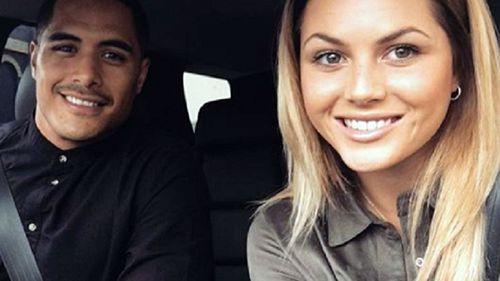 Aaron Smith and his partner Teagan Voykovich (Instagram)