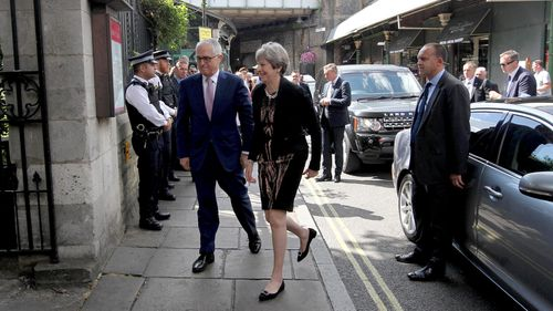 Malcolm Turnbull received an intelligence and security briefing from top British officials. (AAP)