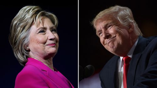 Hillary Clinton and Donald Trump. (AFP file images)