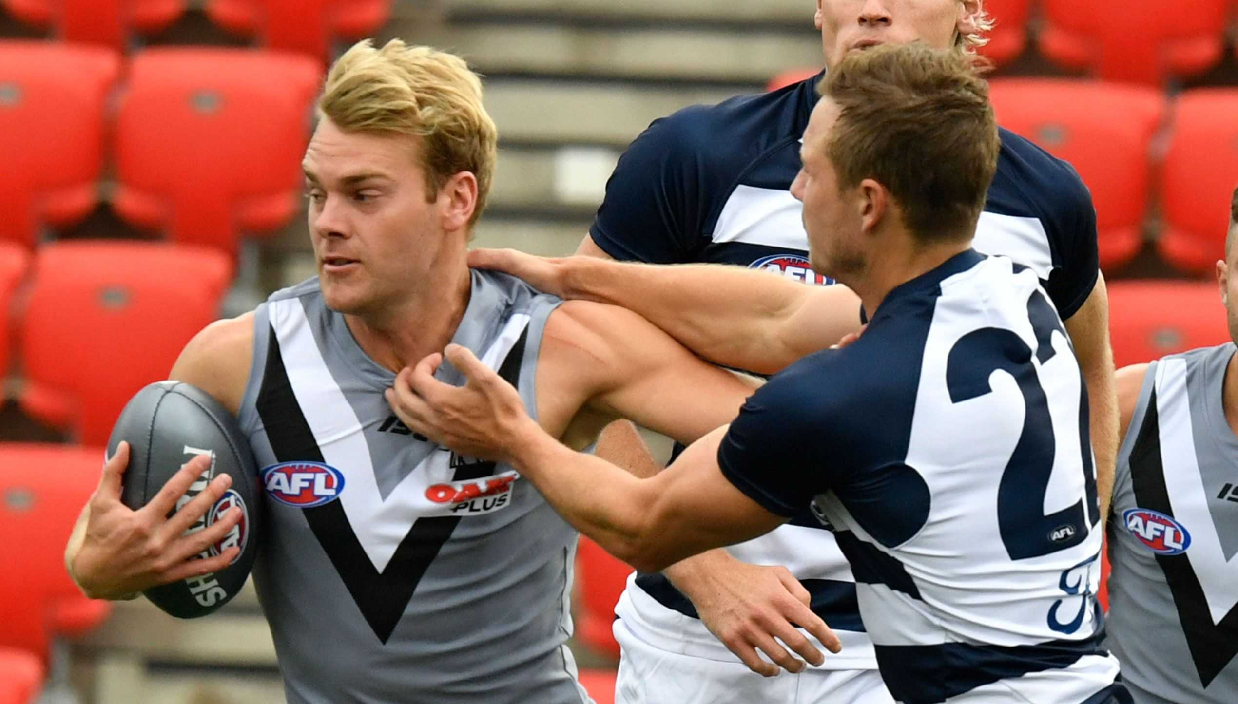 Jack Watts in action during AFLX.
