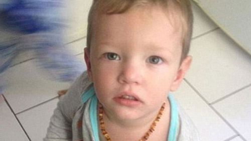 Toddler Mason Lee died after a blow from his mother's partner.