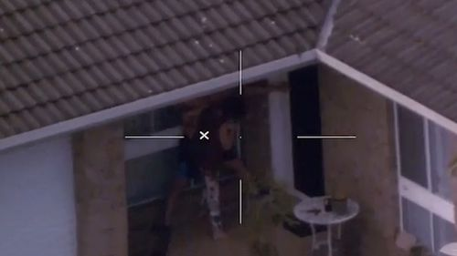 One Polair video shows five officers attending a home on the Central Coast in April 2017, where a man believed to be high on the drug ice allegedly intended to attack his own mother.