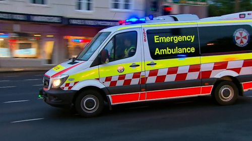 A NSW Ambulance attends the scene.