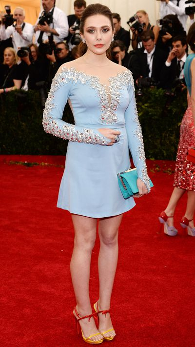 Olsen wore Miu Miu to the 2014 Met Gala, shortly after appearing in the brand's Spring 2014 campaign alongside Lupita Nyong'o, Elle Fanning and Bella Heathcote. Anyone who gets Miuccia's approval is OK by us.