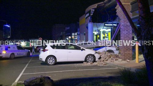 The driver escaped the crash uninjured. (9NEWS)
