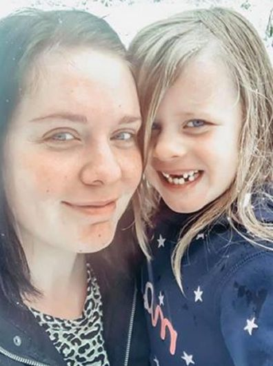Jessica Hood with her daughter Lily, six.