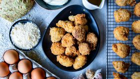 Family Food Fight: The Giles' Fried Lamb Brains with Celeriac Puree and Lemon Oil