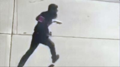 Saipov was captured on CCTV running to attack more victims after crashing his rented van. (AP)