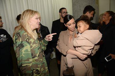 Courtney Love, Kim Kardashian West and North West.