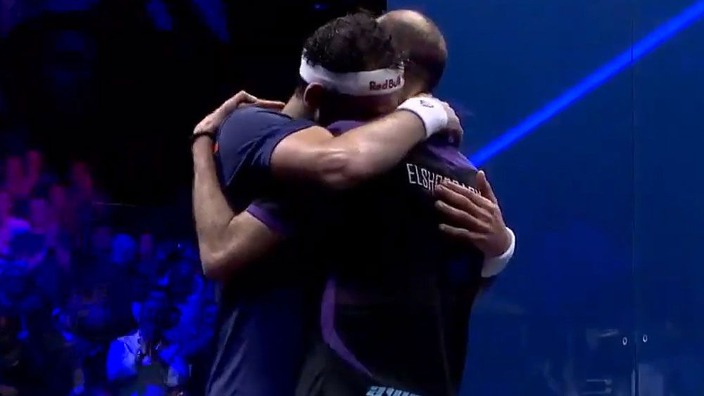 Egypt's Mohamed Elshorbagy beats younger brother Marwan to win men's world squash title