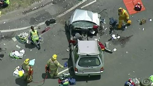 The crash took place on the South Gippsland Highway just after midday.