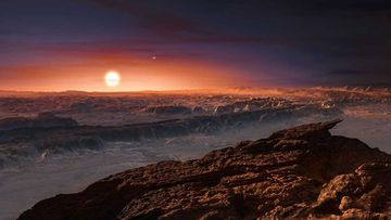 An artist's impression of the surface of Proxima B. (M. Kornmesser, European Southern Observatory)
