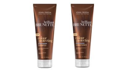 "<p>To keep brunettes colour for longer:</p><p><a href=""http://www.johnfrieda.com"" target=""_blank"">Brilliant Brunette® Colour Protecting Moisturising Shampoo and Conditioner, $15.99 each, John Frida.</a></p>"