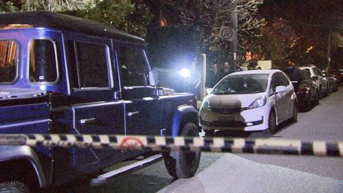 It's believed a gun and a samurai sword were found on the scene, however the circumstances surrounding the man's death are not yet known.