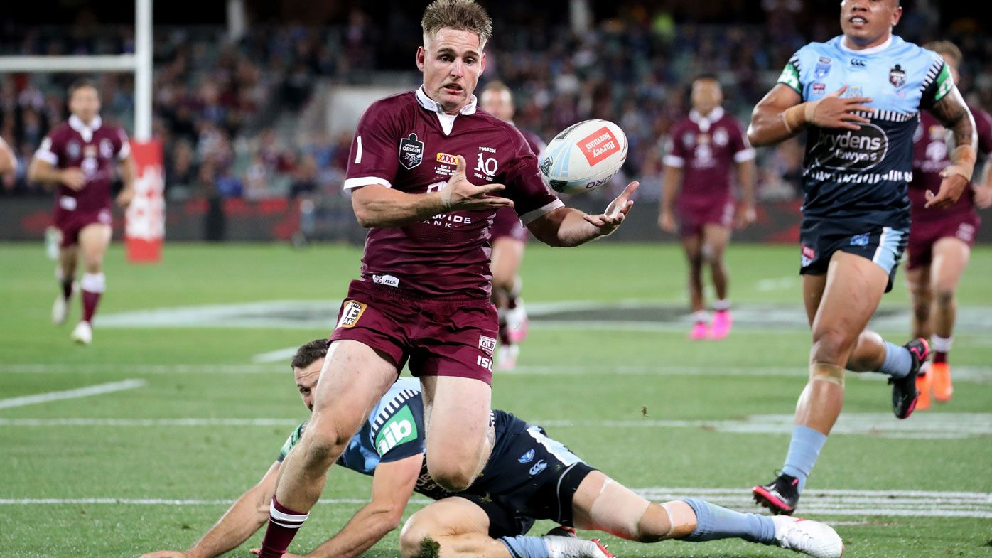 AJ Brimson was instrumental in the Maroons Game One win over NSW. (Getty)