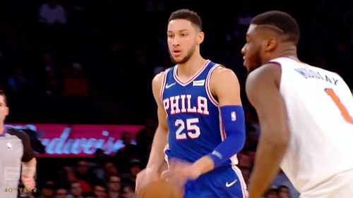 Simmons' Philadelphia 76ers are through to the next round of the NBA playoffs. (60 Minutes)