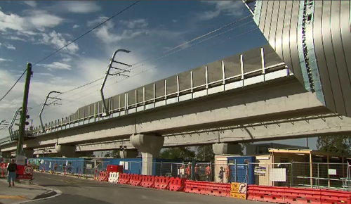 SkyRail was officially opened to the public. (9NEWS)