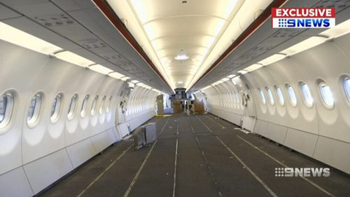 The refurbishment of the planes takes up to 12 days per aircraft. (9NEWS)