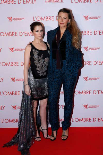 Anna Kendrick and Blake Lively attend the Paris premiere of 'A Simple Favor', September 18.