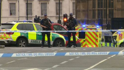 Westminster train station was also closed for entry and exit as authorities dealt with the 'security alert' incident.