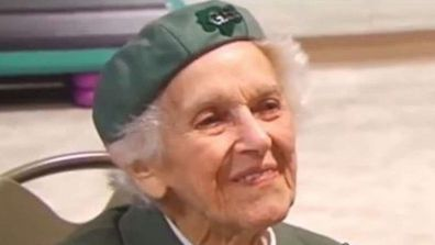 98-year-old Girl Scout Ronnie Backenstoe