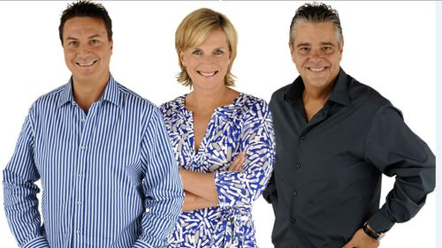 Rebecca Wilson with her former Vega 95.3 breakfast show co-hosts Tony Squires and Mikey Robins.
