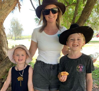 Sonya Chant skin cancer with family
