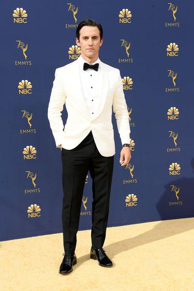 <em>This is Us</em> starMilo Ventimiglia at the 70th Annual Emmy Awards