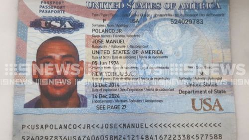 Mr Polanco's passport. (9NEWS)