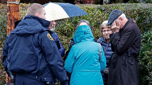"""A suspect in custody and """"multiple"""" people dead following a shooting at a synagogue in Pittsburgh, Pennsylvania."""