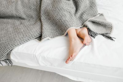 <strong>Stick a foot out from the covers</strong>