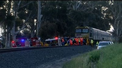 Train kills woman in level crossing crash