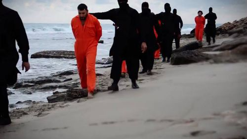 ISIL releases new video depicting the execution of 21 Egyptian Coptic Christians in Libya