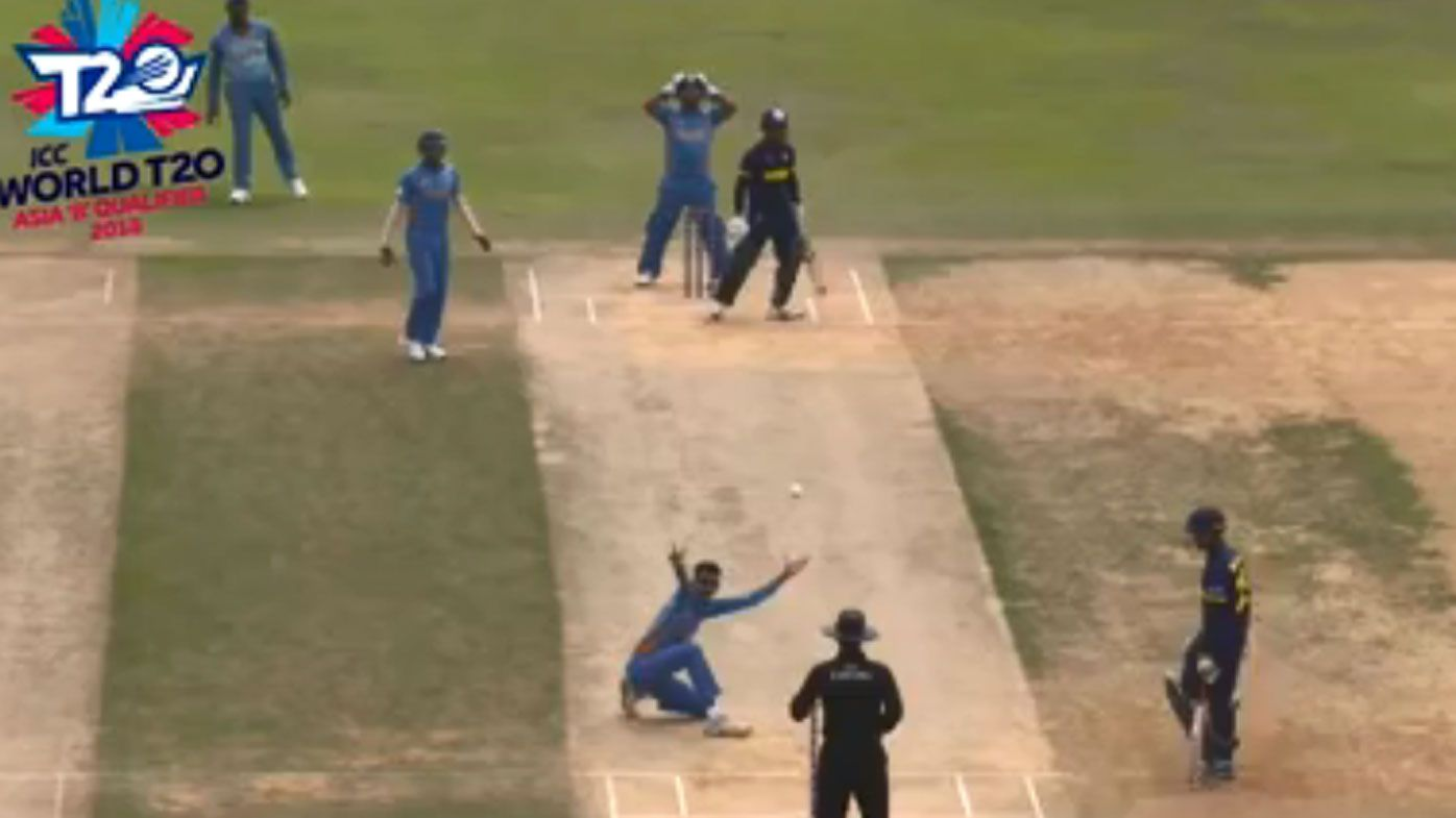 Myanmar falls for 8-9 in abysmal World T20 qualifier