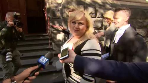 Rebel Wilson fronted Melbourne's Court of Appeal this morning. (9NEWS)