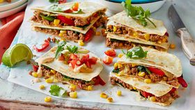Lamb quesadillas