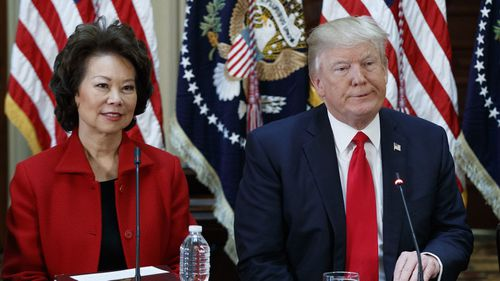 Transportation Secretary Elaine Chao has resigned in protest of Donald Trump's actions.