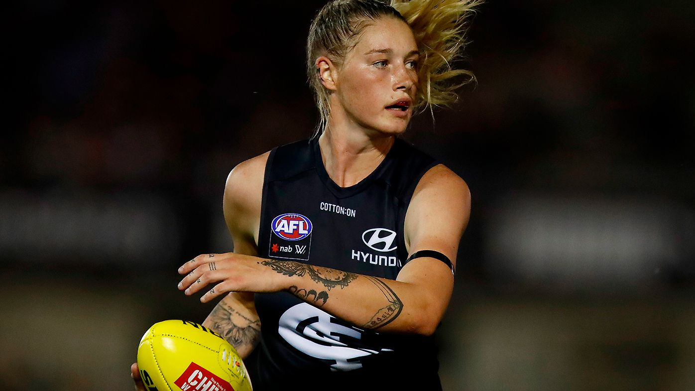 'Blown out of proportion': Tayla Harris' manager hits out at claims AFLW icon is 'money hungry' amid pay dispute