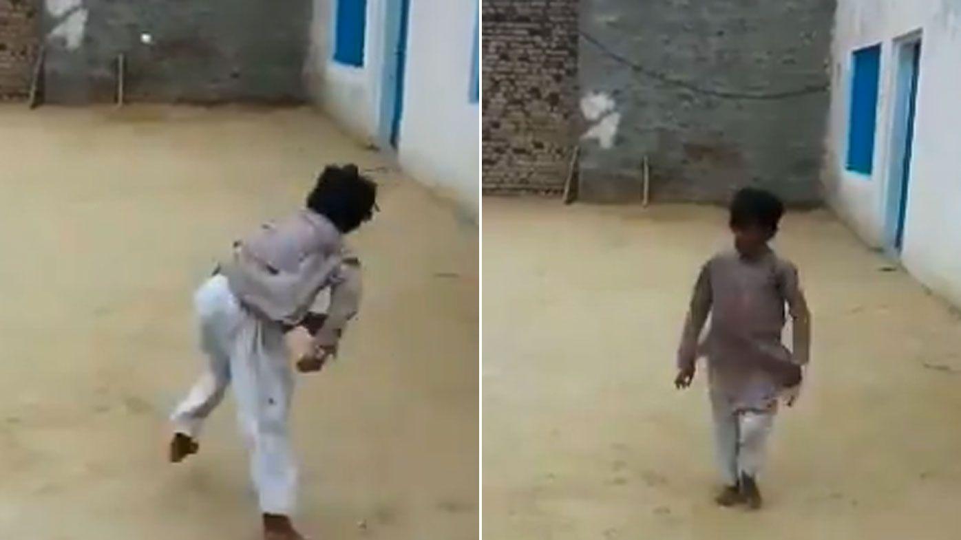 Young Pakistani boy touted as the next Wasim Akram