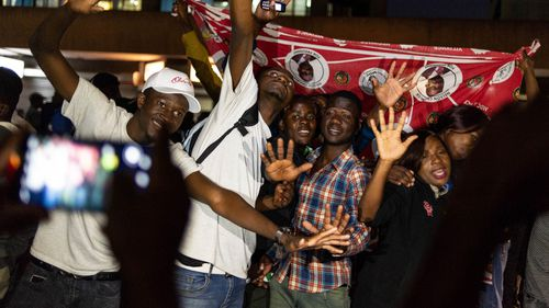 Supporters of MDC Alliance Nelson Chamisa flock to the streets to celebrate